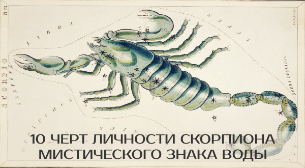 10 черт личности Скорпиона, мистического знака Воды