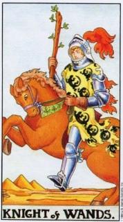 карта таро рыцарь жезлов