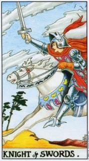 карта таро рыцарь мечей